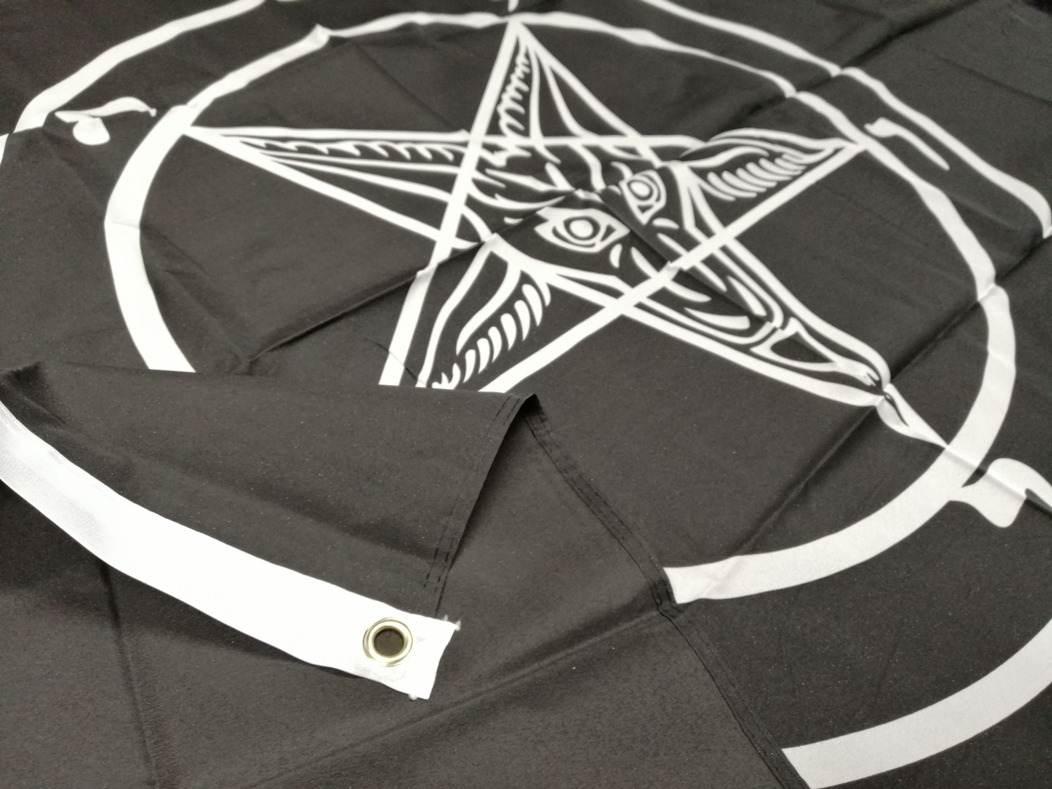 Baphomet Church of Satan Occult Polyester Flag Bunting 9m long with 30 Flags